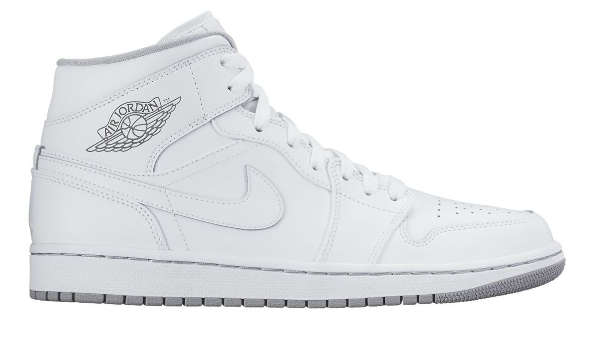 Air Jordan 1 Mid White/Wolf Grey 554724 112