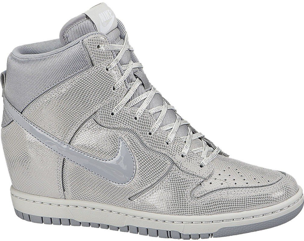 Buty Nike WMNS Dunk Sky HI Cut Out Premium Brushed Metal 644411 001