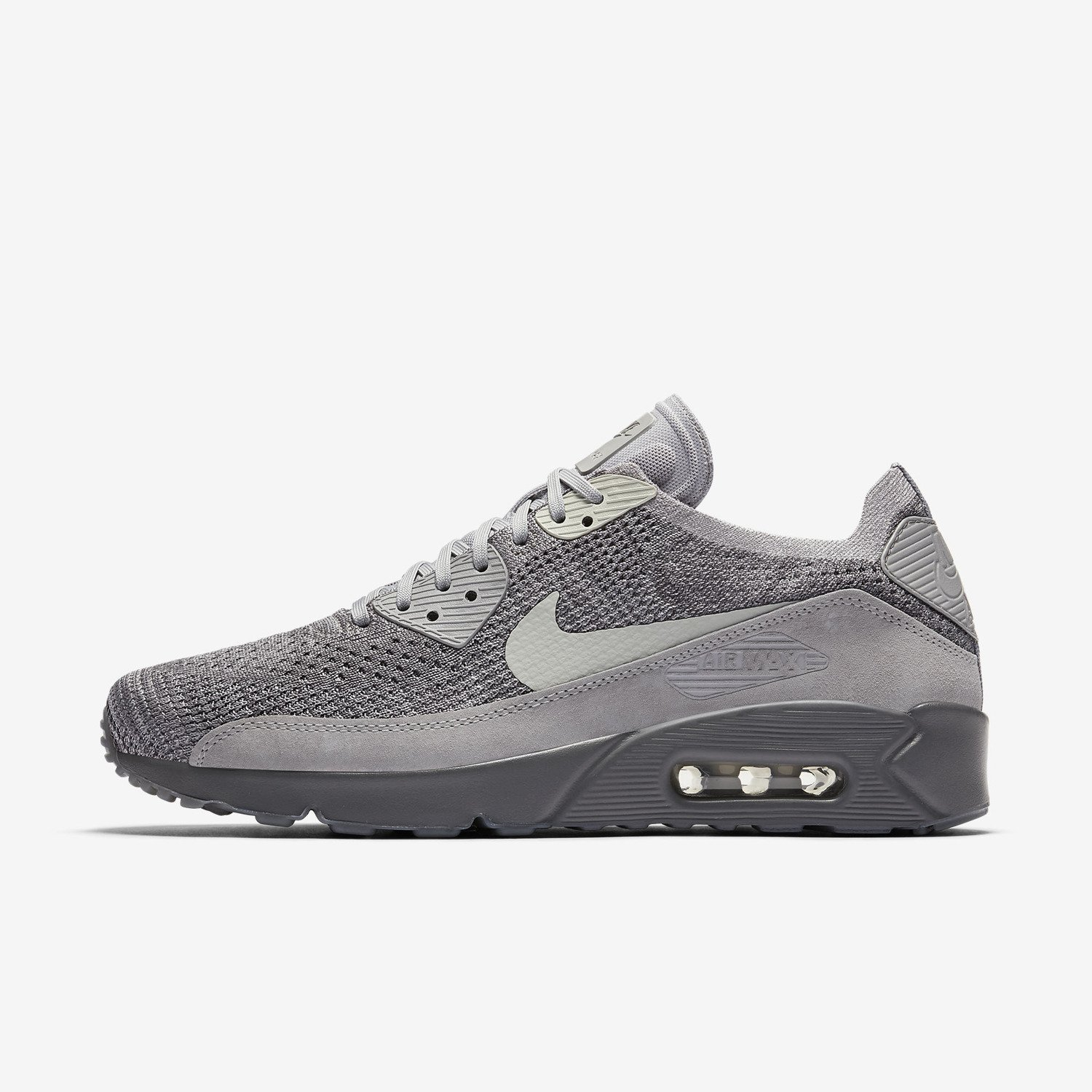 buty m skie nike air max 90 ultra 2 0 flyknit vast grey 875943 007. Black Bedroom Furniture Sets. Home Design Ideas