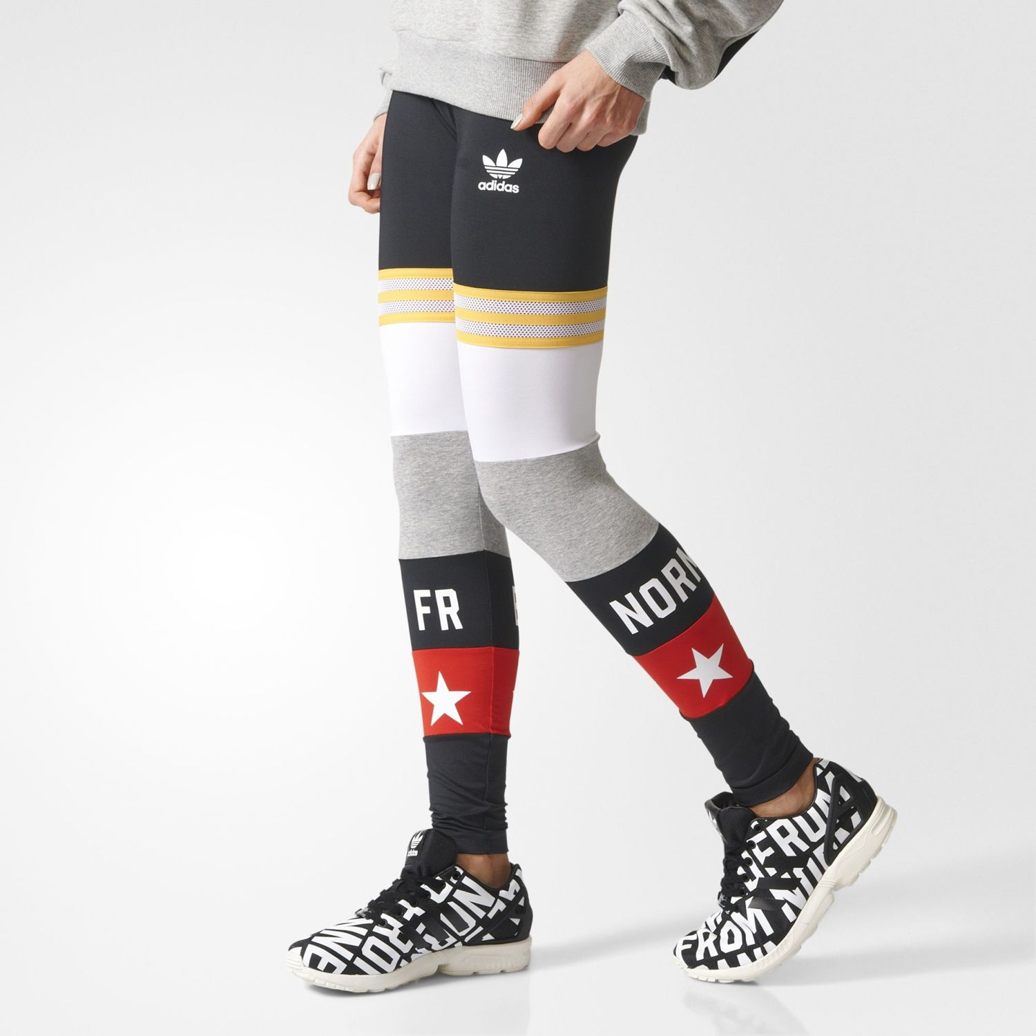 Legginsy sportowe adidas Originals Banned From Normal AY7137