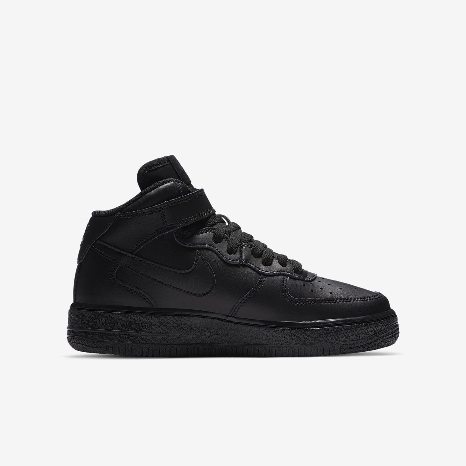 Nike Air Force 1 Mid (GS) All Black 314195 004