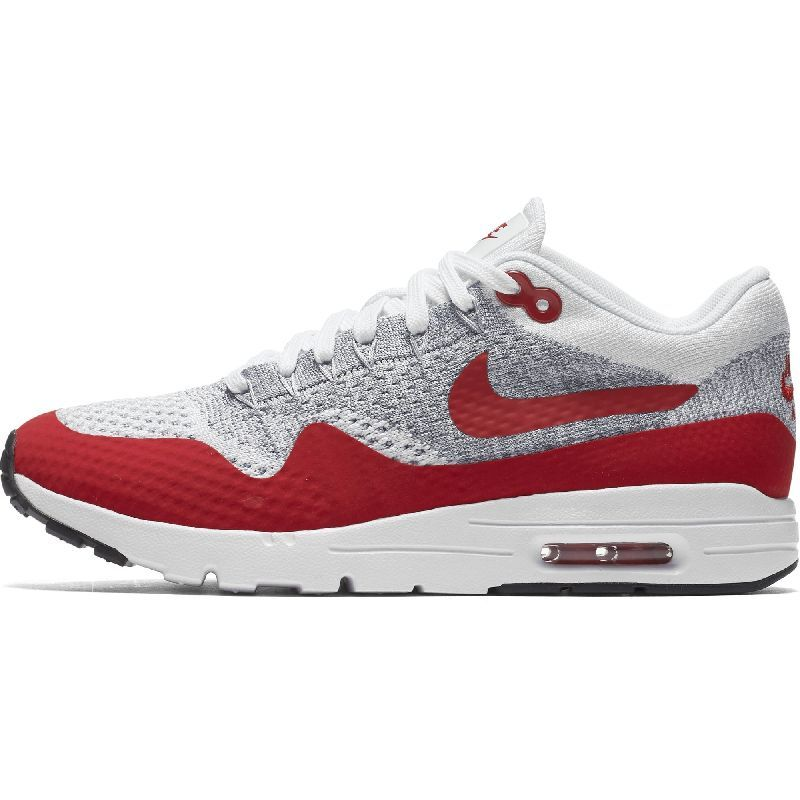 Nike Air Max 1 Ultra Flyknit White/University Red 843387 101