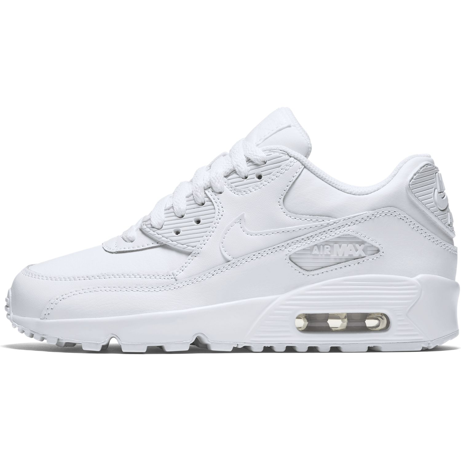 Nike Air Max 90 Leather All White 833412 100